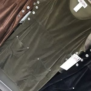 NWT Dress olive color.